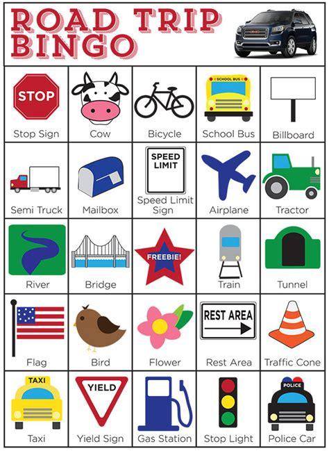 printable road trip bingo cards pics for gt printable road trip bingo cards