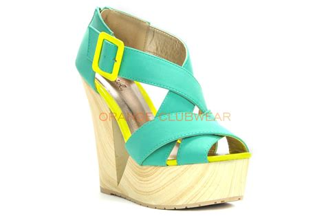 qupid bright sea foam green nubuck summer platform