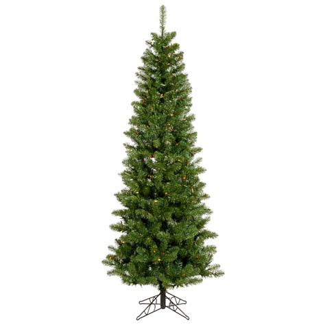 4 5 foot salem pencil pine christmas tree multicolor