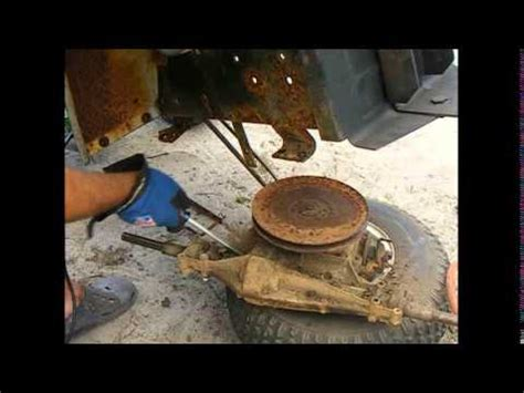 remove  stuck transaxle pulley     minutes wax
