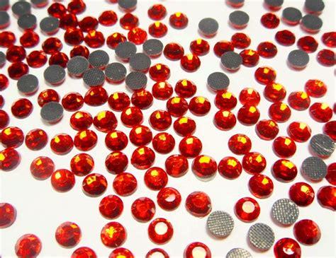 Ss Dress Brukat Sari hotfix strasssteine rot feuerrot 6mm glas strass aaa