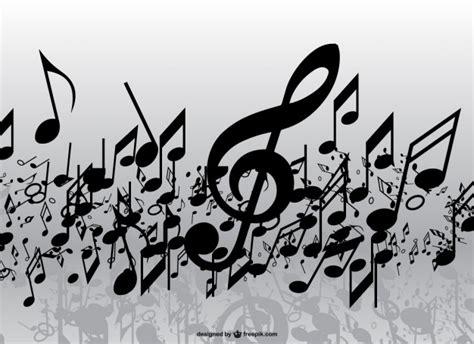 Imagenes Musicales Descargar | lluvia de notas musicales descargar vectores gratis