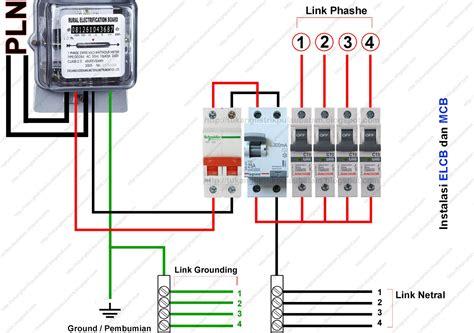 Kabel Instalasi Listrik cara memasang elcb earth leakaque circuit breaker