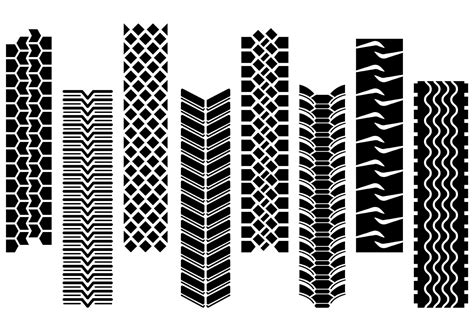 tire pattern ai set of tractor tire vector download free vector art