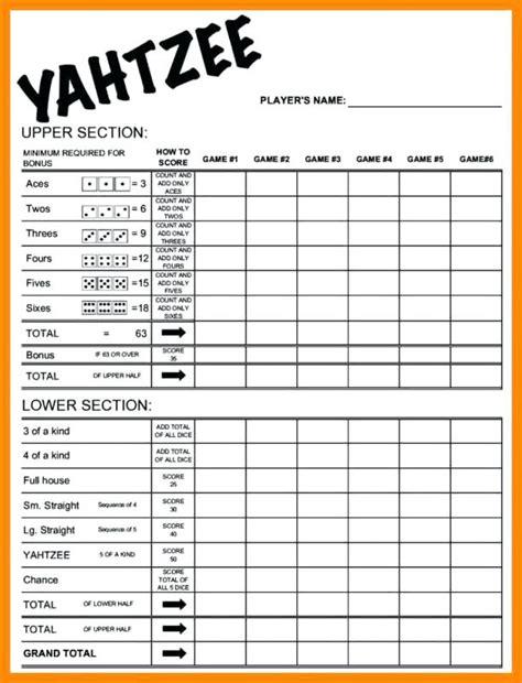 printable triple yahtzee score sheets pdf printable yahtzee score card birthday card template word