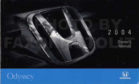 car repair manuals download 2004 honda odyssey interior lighting 2004 honda odyssey owner s manual original