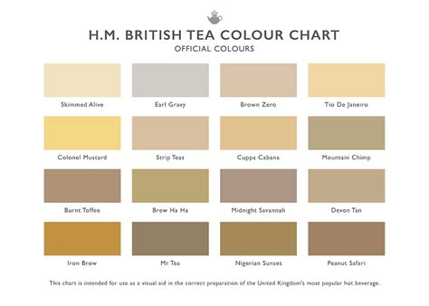 h m tea colour chart