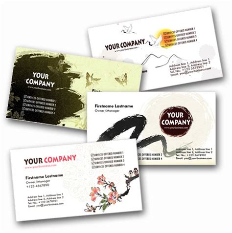 Japanese Business Card Design Template by 100 Free Psd Business Card Templates
