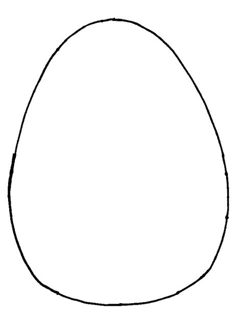 Egg Template free coloring pages of easter egg card template