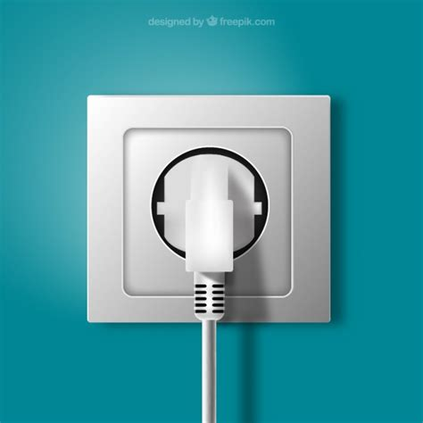 Stop Kontak Ac 3 Pin stekker en stopcontact in realistische stijl vector
