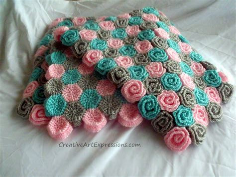 crochet pattern rose field baby blanket creative art expressions hand crocheted roses baby blanket