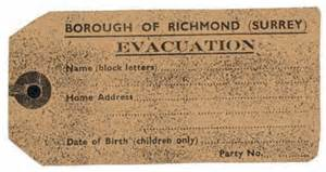 World War 2 Evacuee Label Template by Evacuee Luggage Label History Mostly Wwii