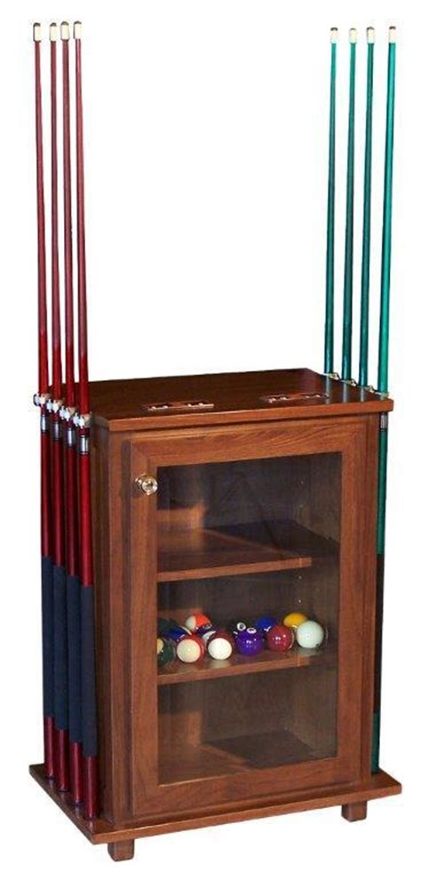 Pool Stick Cabinet by Amish Billiard Table Accessories Cabinet