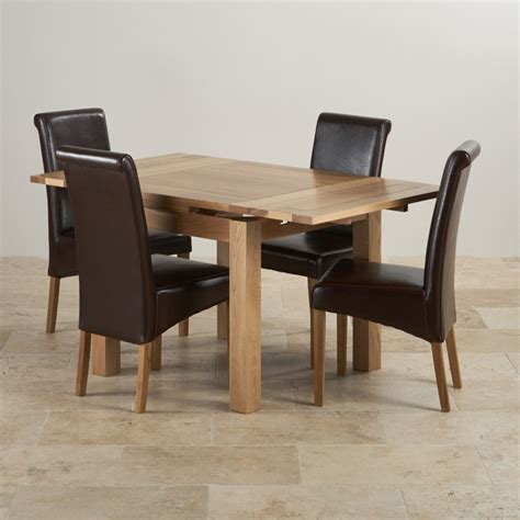 3ft dining table sets dorset oak dining set 3ft table with 4 brown chairs