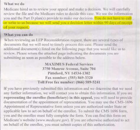 Kaiser Appeal Letter Part D Late Enrollment Penalty Maximus Appeals