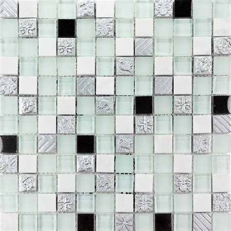 Resin Mosaic Tiles 10x10mm Opaque Resin Honed Marble Polished Frosted Glass Mosaic