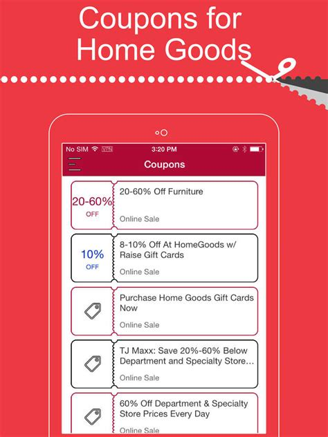 app shopper coupons for home goods homegoods shopping