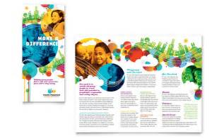 Event Program Template Publisher by Youth Program Tri Fold Brochure Template Design