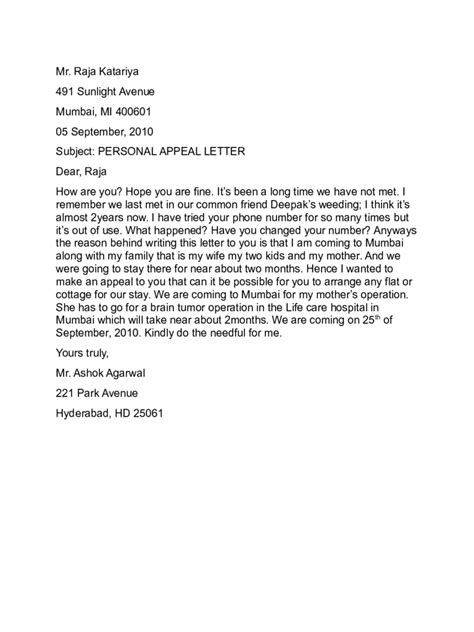 appeal letter templates 10 free templates in pdf word