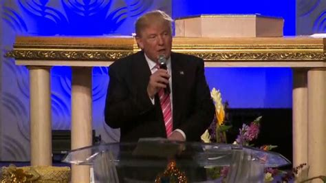 donald trump church trump brings message of unity to black church in detroit