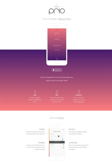 css layout ios prio ios app mobile apps css showcase gallery