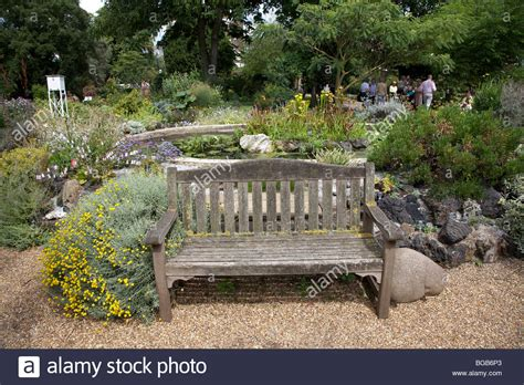 bench in london bench beside europe s oldest man made rock garden in the