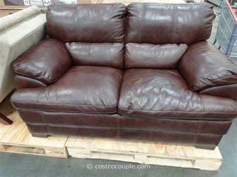 simon li leather loveseat