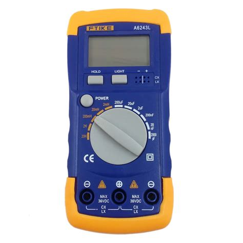inductors multimeter multimeter a6243l 3 1 2 capacitor meter inductor lc meter 2nf 200uf 2mh 20h compatible tester