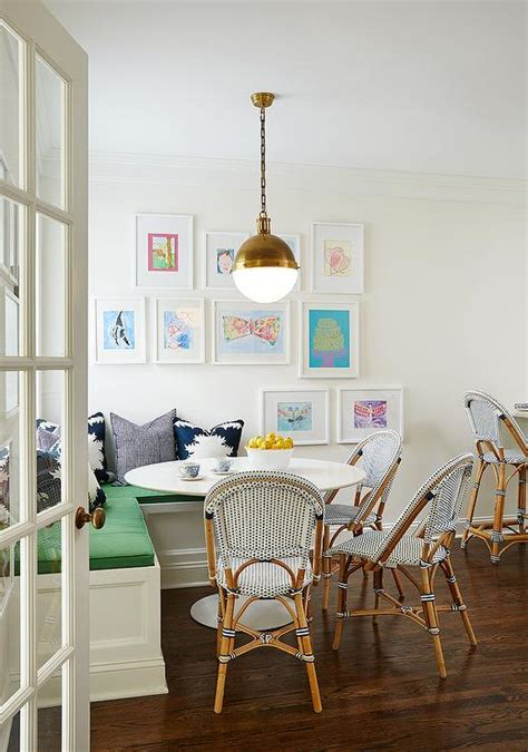 breakfast nook art l shaped banquette transitional dining room amie