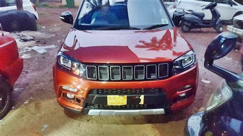 maruti jeep maruti vitara brezza spotted with a custom jeep grille