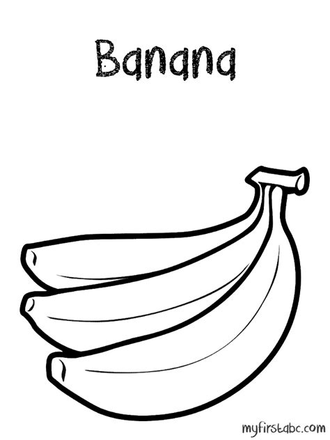 banana coloring page my first abc
