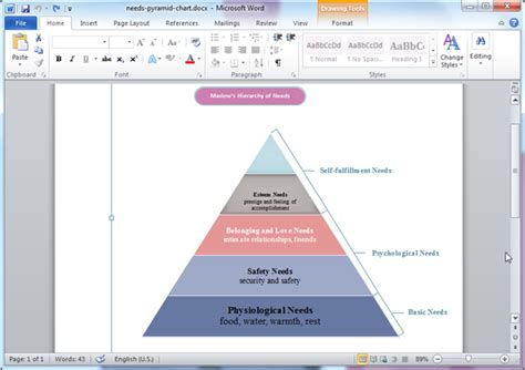 how to do a diagram in word pyramid diagram templates for word