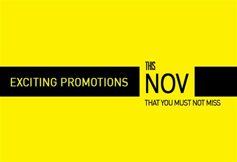 exciting promotions this november that you must not miss