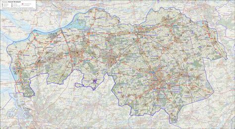 netherlands highway map brabant road map