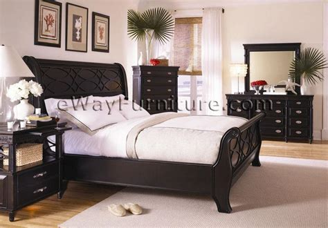 Black Sleigh Bedroom Set dresser