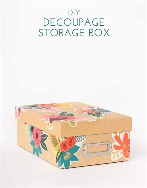 Decoupage Cardboard Box - diy floral decoupage storage box the crafted