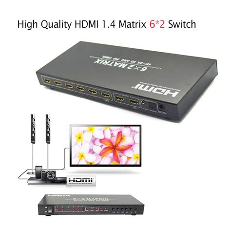 Connector Vernon 4 X 1 Hdmi Switcher 1 4 hdmi matrix 6x2 hdmi to hdmi switch converter adapter