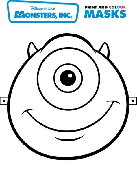 printable monster mask template best photos of monster inc printable templates halloween