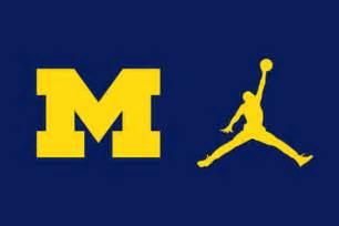 michigan football colors the jumpman logo will be on michigan s new football
