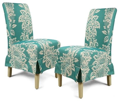 tropical dining chairs luxury white flower fabric dining chairs set of 2
