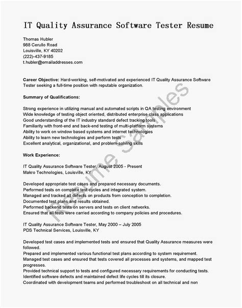 Software Quality Assurance Analyst Sle Resume by Sle Resume For Quality Assurance 28 Images Quality Resume In Pharmaceutical Companies Sales