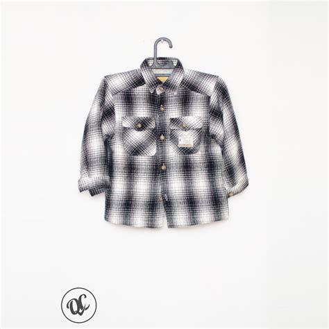 Kemeja Putih kmj037 kemeja flanel hitam putih rp 45 000 quality controlled fashion