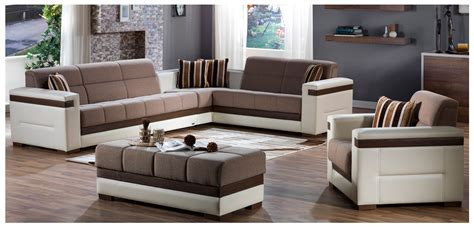 sectional with storage moon convertible sectional with storage sunset cream