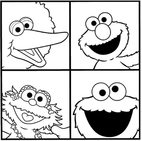 free sesame street numbers coloring pages