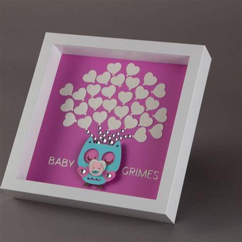 framed baby shower owl guest book alternative 30