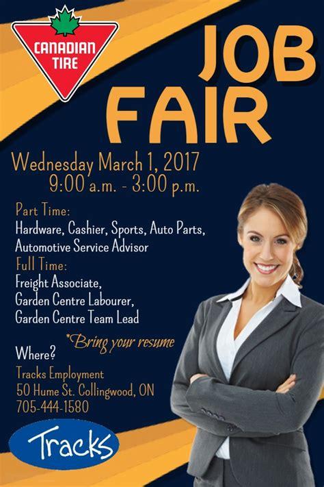 canadian tire job fair tracks employment services  stop resource centre  employment