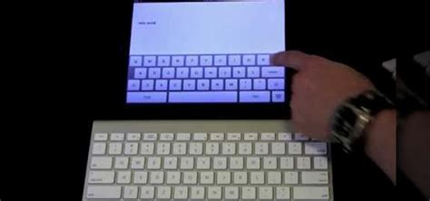 tutorial external keyboard how to use an external wireless keyboard with an apple