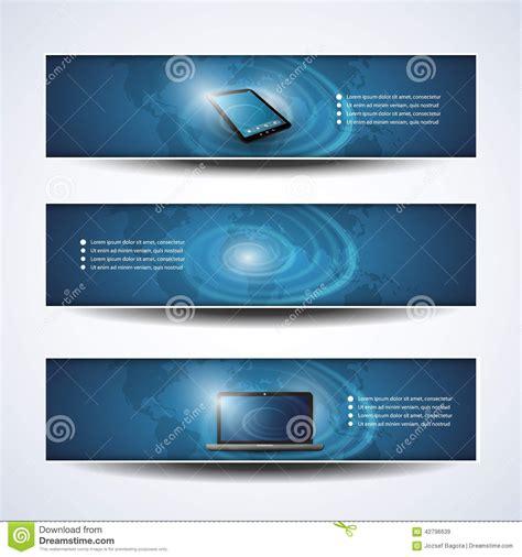 header design simple banner or header designs cloud computing network stock