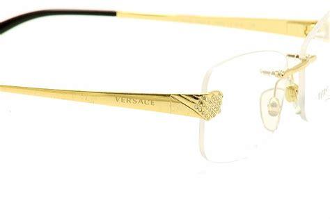 versace s eyeglasses 1203 b 1203b rimless optical frame