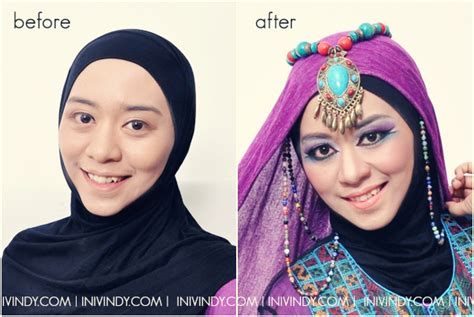 tutorial make up ala korea before after ini vindy yang ajaib tutorial make up ala india aka